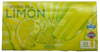 HACENDADO Helado palo hielo limón Caja de 10 unidades