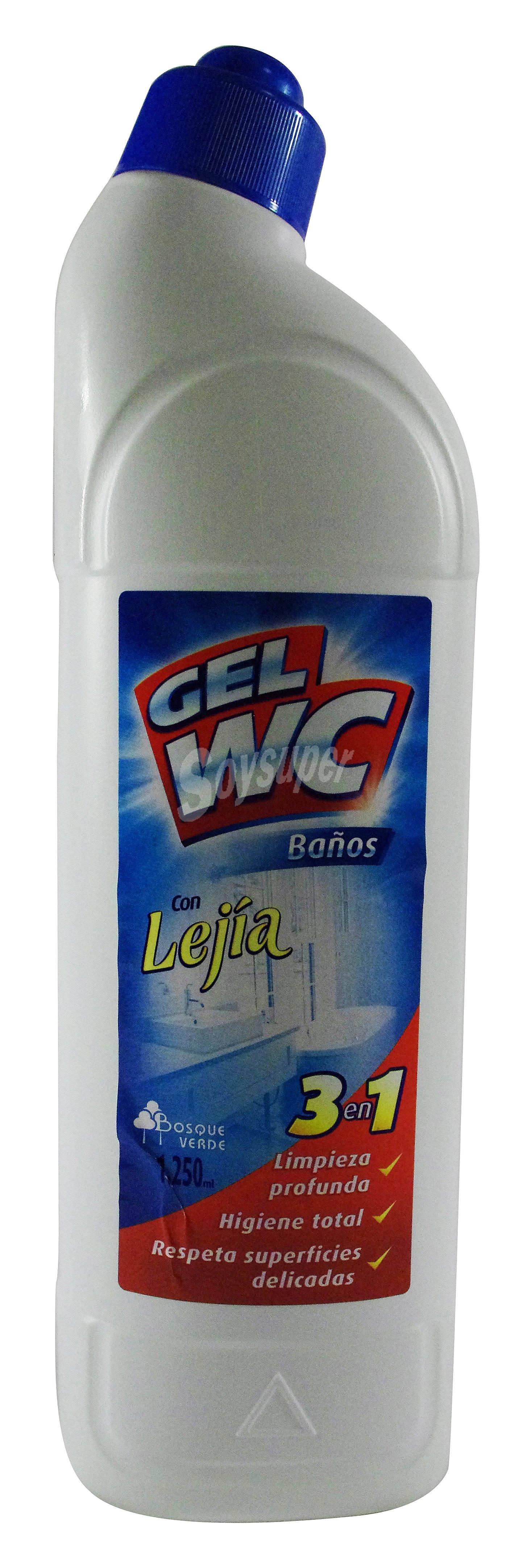 Gel De Baño Bottega Verde:Bosque Verde Limpiador gel wc y baños con lejia *verano* Botella 1250