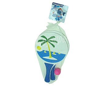 Happy shark Set de 2 palas para playa incluye pelota 32.5x18.5x4 cm, SHARK.