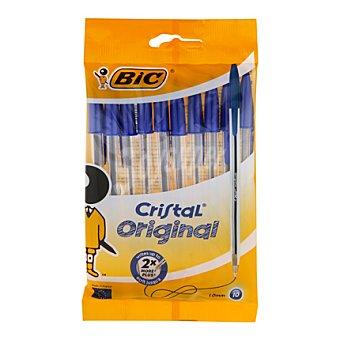 Bic Bolígrafos azules cristal punta normal Pack de 10 unidades