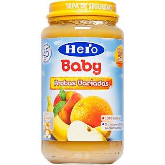 HERO BABY tarrito frutas variadas 100% natural  envase 235 g