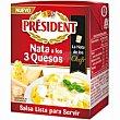 Salsa con nata 3 quesos brik 200 ml President