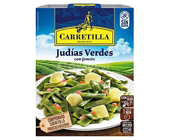 Carretilla Judías verdes con jamón y aceite de oliva Envase 240 g