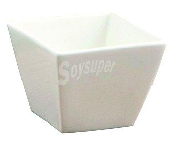 QUID Bol cuadrado fabricado en porcelana blanca especial para aperitivos modelo Chef, 7,5x7,5 centímetros 1 unidad