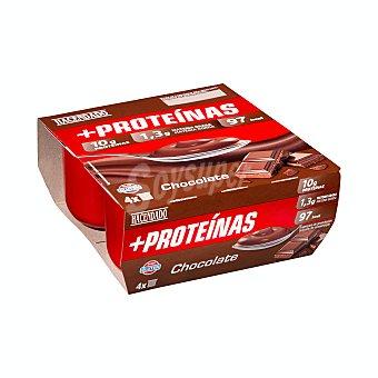 Hacendado Postre lácteo desnatado chocolate + proteínas Pack 4 u x 120 g - 480 g