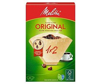 MELITTA Filtros de café Classic 1-2 tazas bolsa 40 unidades