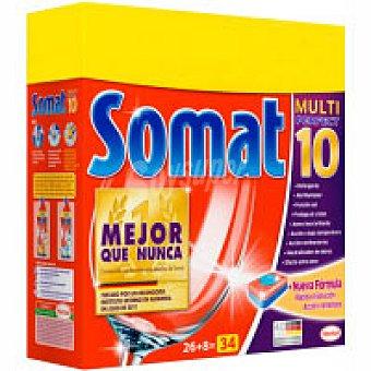 Somat Lavavajillas máquina pastillas 10 Bolsa 26 dosis + 30%