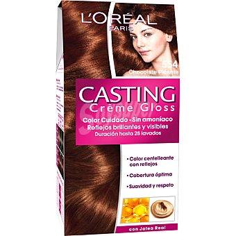 Casting Crème Gloss L'Oréal Paris Tinte chocolate picante nº 554 caja 1 unidad