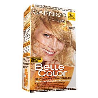 GARNIER BELLE COLOR Tinte rubio claro dorado nº 8.3 con aceite de jojoba y germen de trigo coloración permanente 1 unidad