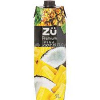 Zü Premium Bebida de piña-coco Brik 1 litro
