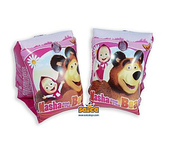 Masha y el Oso Manguitos hinchables infantiles con diseño de tus personajes favoritos de la serie 1 unidad