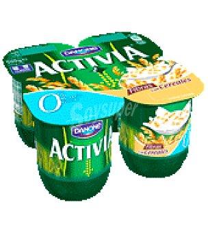 Activia Danone Yogur de cereales 0% activia Pack de 4x125 g