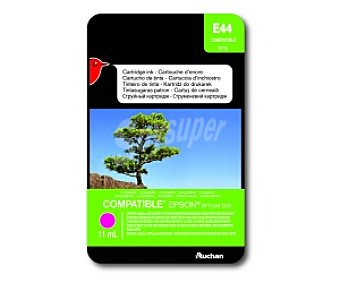 Auchan Cartucho Magenta TO71340 (E 44) - Compatible con impresoras: epson Stylus D78 / D92 / D120 / DX4000 / DX4050 / DX4400 / DX4450 / DX5000 / DX5050 / DX6000 / DX6050 / DX7000F / DX7400 / DX7450 / DX8400 / DX8450 / DX9400F / S20 / S21 / SX100 / SX105 / SX110 / SX115 / SX218 / SX200 / SX205 / SX210 / SX215
