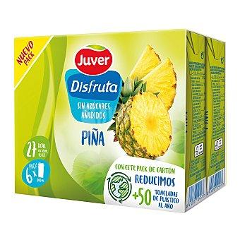Juver Disfruta Néctar de piña sin azúcares añadidos Pack 6 briks 200 ml