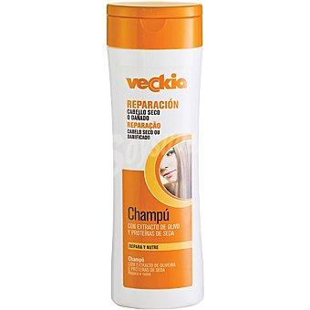 Veckia Champú reparación con extracto de olivo y proteínas de seda frasco 400 ml Repara y Nutre para cabello seco y dañado Frasco 400 ml