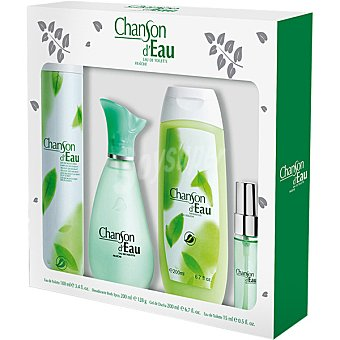 Chanson D'Eau eau de toilette femenina + desodorante spray 200 ml + gel de baño frasco 200 ml + perfumador frasco 15 ml Spray 100 ml