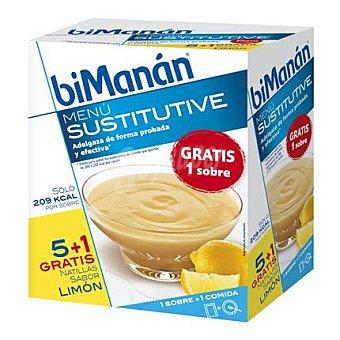 Bimanan Natilla sabor limón en sobres 300 g