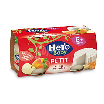 Hero Baby Tarrito queso fruta a partir 6 meses Pack 2 x 80 g - 160 g