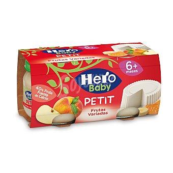 Hero Tarrito de frutas variadas Petit Pack 2x80 g