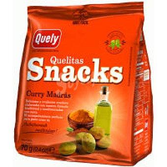 Quely Snacks al curry Bolsa 70 g