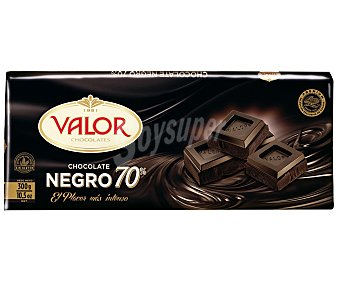 Valor Chocolate negro 70% cacao Tableta 300 g