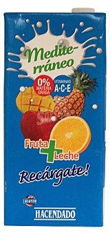 Hacendado Frutas+leche mediterraneo (brick azul) Brick 1 l