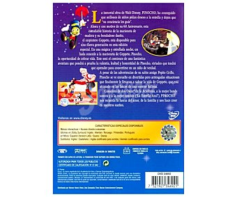 ANIMACIÓN Película en Dvd Pinocho, Clásicos Disney. Género: infantil, familiar, animación. Edad: TP