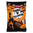 Golosinas nubes cubiertas de chocolate con leche halloween (calabazas y murcielagos) Paquete 100 g Boutique Praline