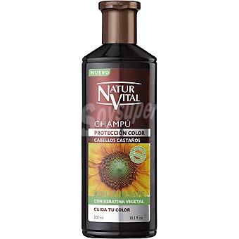 Naturaleza y Vida Champu henna reflejos castaños Frasco 300 ml