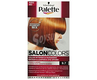 Schwarzkopf Palette Tinte nº 9.7 Rubio Cobrizo color intenso y duradero Salon Colors Caja 1 unidad