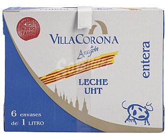 VILLACORONA Leche Entera Caja 6 Unidades