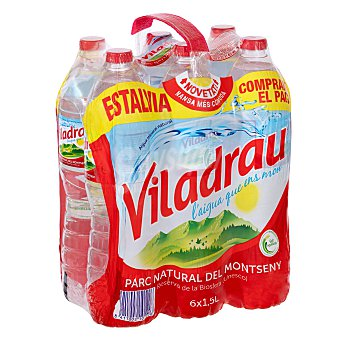 Viladrau Nestlé Agua mineral Botella de 1,5 litros pack de 6