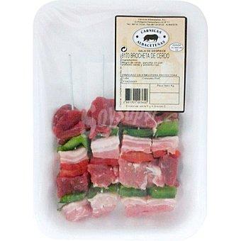 CARNICAS ALBACETEÑAS Brocheta de cerdo peso aproximado bandeja 400 g 4 unidades