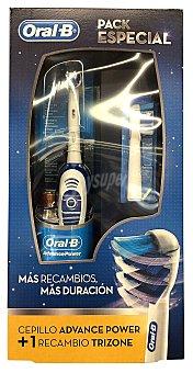 Oral-B Lote dental cepillo electrico + pilas + recambios u