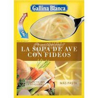 Gallina Blanca Sopa completa de ave-fideos Sobre 88 g