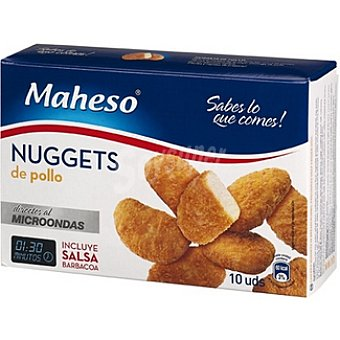 Maheso Nuggets de pollo para microondas Estuche 300 g