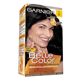 Belle Color Garnier Tinte negro nº 1 con aceite de jojoba y germen de trigo coloración permanente Caja 1 unidad