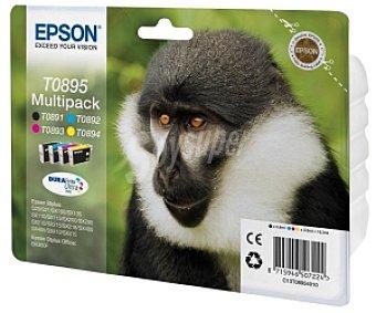Epson Multipack T0895 Compatible con impresoras: S20 / S21 / SX100 / SX115 / SX200 / SX205 / SX210 / SX215 / SX218 / SX400 / SX405 / SX410 / SX415 / BX300F