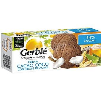 Gerblé Galletas cacao coco con sirope de agave envase 200 g Envase 200 g