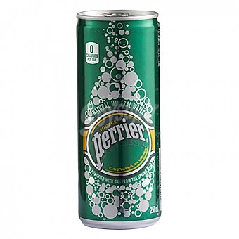 Perrier Nestlé Agua mineral natural con gas Lata 25 cl