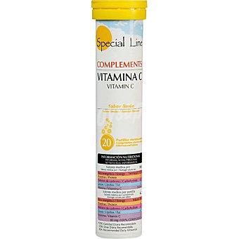 SPECIAL LINE Vitamina C sabor limon efervescentes envase 84 g 20 comprimidos