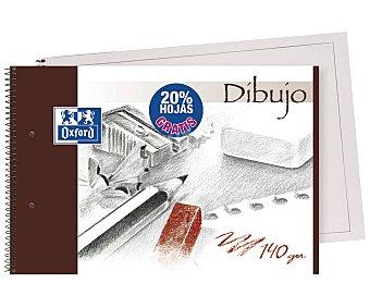 Oxford Bloc de dibujo con 30 hojas de 140 gramos de tamaño DIN A4, microperforado con encuadernación con espiral metálica y 2 taladros grandes 1 unidad