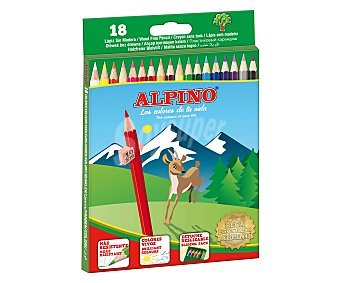 Alpino Caja deslizante de 18 de lápices de colorear de colores vivos 1 unidad