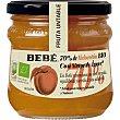 Fruta Untable mermelada 70% melocotón con sirope de ágave ecológica y sin gluten Frasco 325 g Bebé