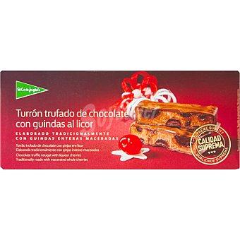El Corte Inglés Turrón trufado de chocolate con guindas al licor Sin Gluten Calidad Suprema Tableta 250 g