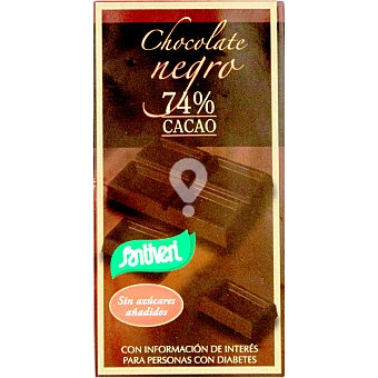 Chocolate negro 74% cacao sin azúcar
