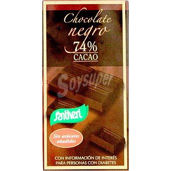 Santiveri Chocolate negro 74% cacao sin azúcar Tableta 85 g