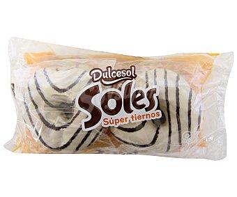 Dulcesol Rosquillas bañadas de chocolate blanco 4 unidades 200 gramos