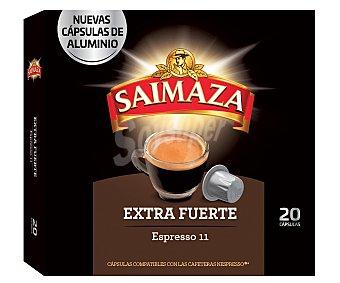 Saimaza Café extrafuerte Nª 11 en cápsulas 20 uds