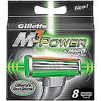 Gillette Recambio de maquinilla de afeitar  M3 POWER Estuche 8 unidades